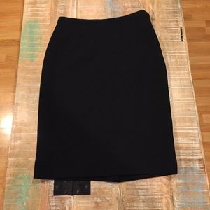 Prada Black Wool Pencil Skirt 42